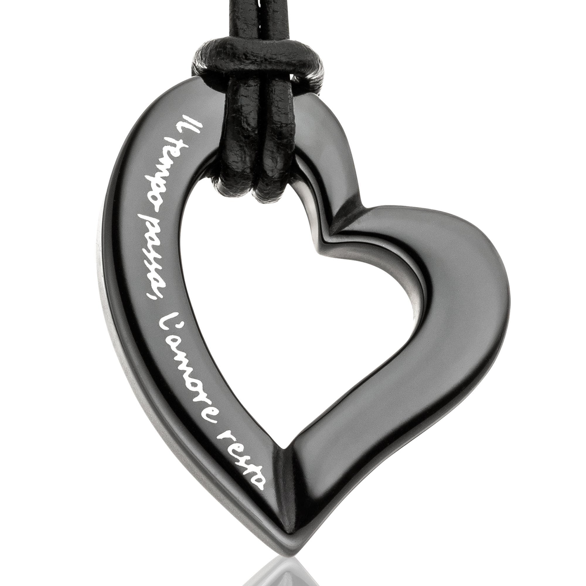 Gilardy Anhänger mit Kette »Keramik Herz Black« | Schmuck > Halsketten > Herzketten | Schwarz | GILARDY