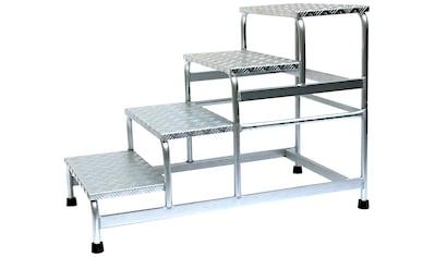 SZ METALL Trittleiter, Aluminium, 4-stufig kaufen