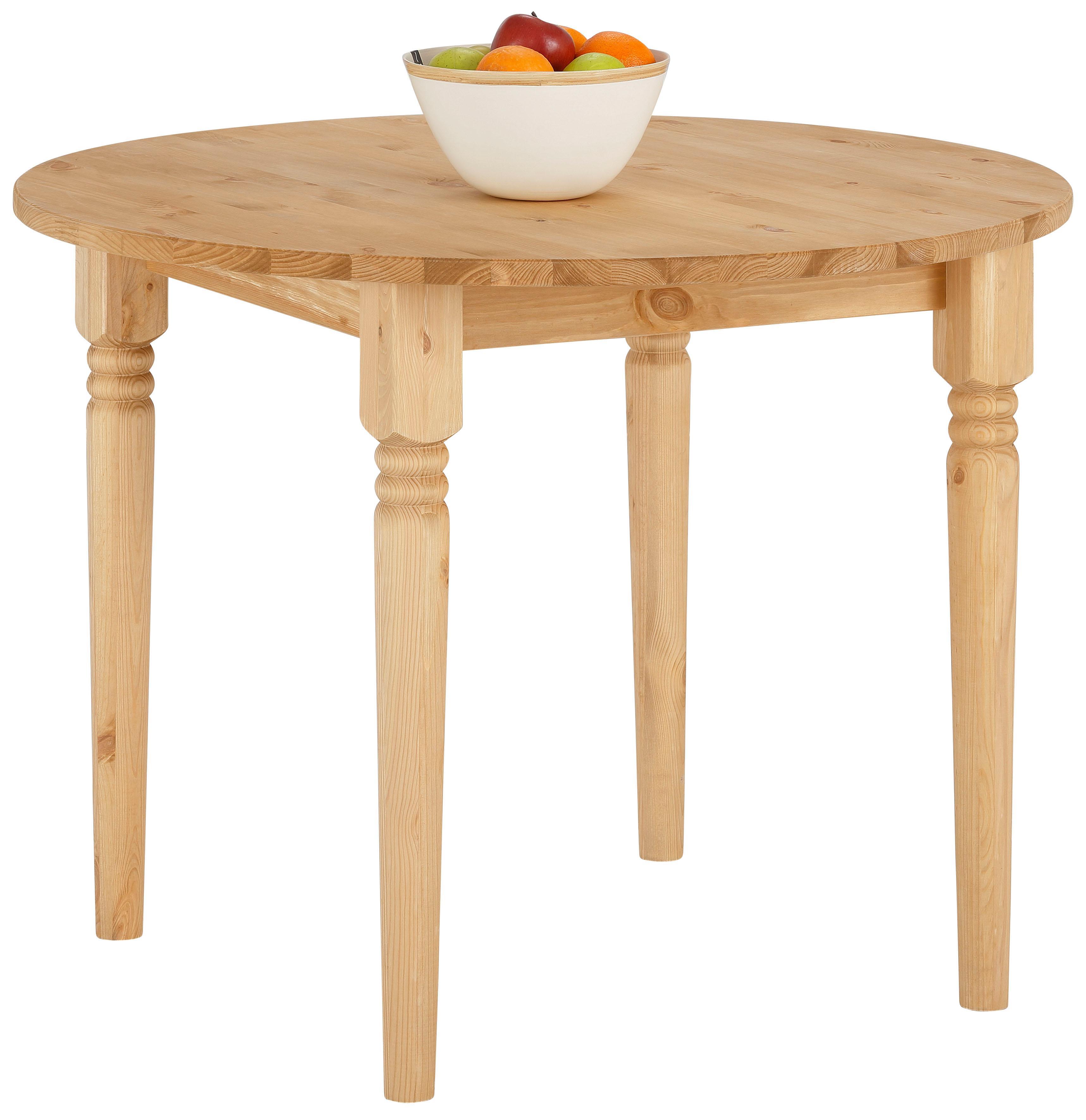 Home affaire Esstisch Jan, in runder Ausführung beige Holz-Esstische Holztische Tische