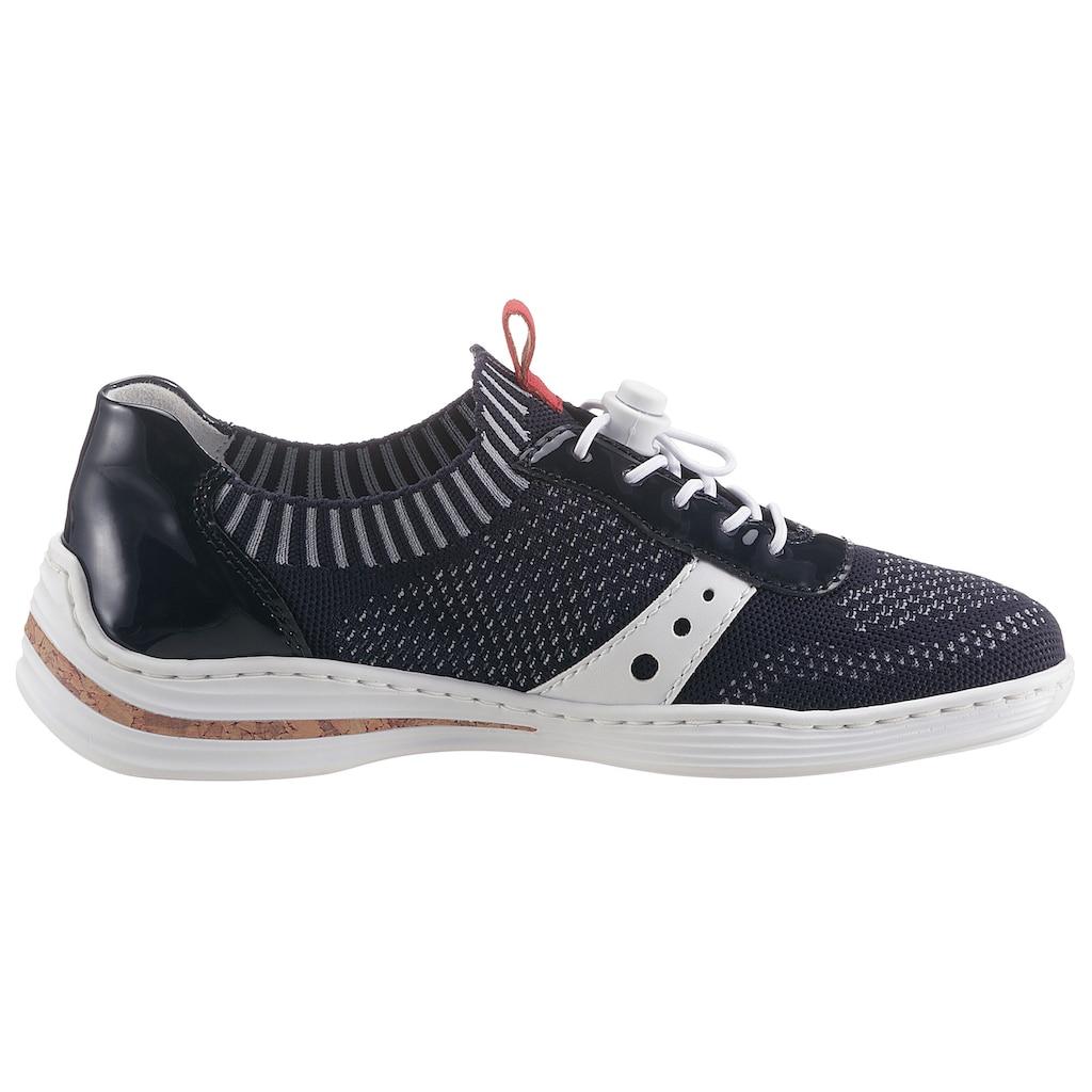Rieker Slip-On Sneaker, mit Lack-Applikation