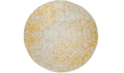 Paco Home Teppich »Artigo 415«, rund, 4 mm Höhe, Ornamente, Vintage Design, In- und... kaufen