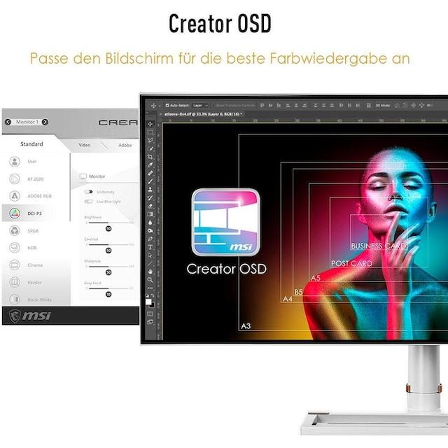 MSI »Prestige PS341WU« Gaming-LED-Monitor (34 Zoll, 5120 x 2160 Pixel, 5 ms Reaktionszeit, 60 Hz)