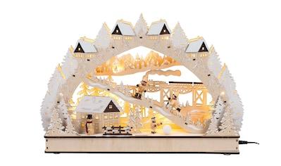 HGD Holz - Glas - Design Lichterbogen Winterromantik mit LED - Beleuchtung kaufen