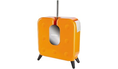 SPIRELLA WC - Garnitur »CUBE«, WC - Bürste und Toilettenpapierhalter 2 in 1, orange kaufen