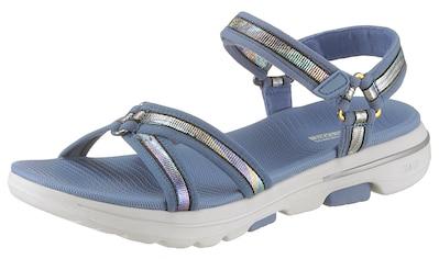 Skechers Sandale »Go Walk 5«, mit feinem Metallic-Besatz kaufen