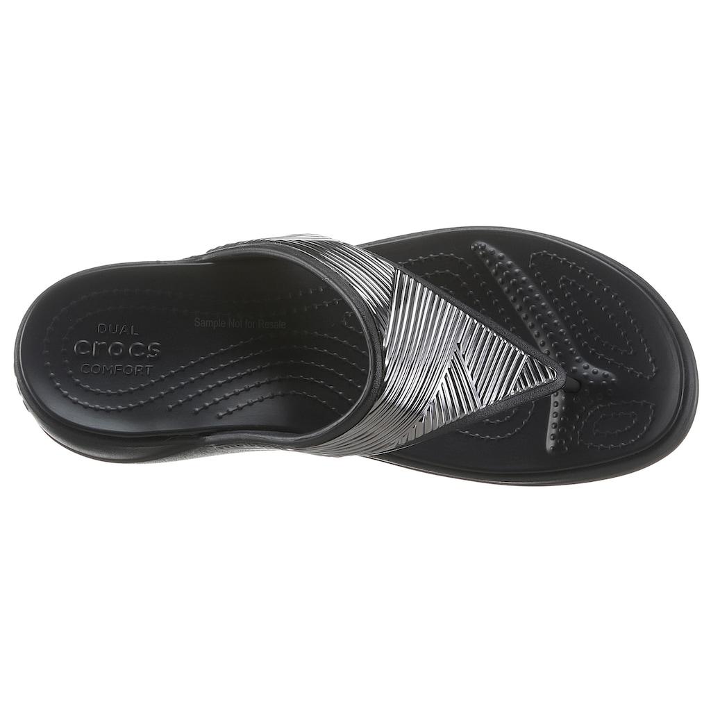 Crocs Badesandale »Monterey Metallic«, im Metallic Look