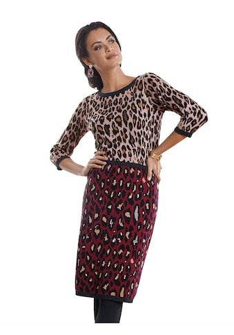 Amy Vermont Strickkleid in Leomuster mit Glanzgarn kaufen