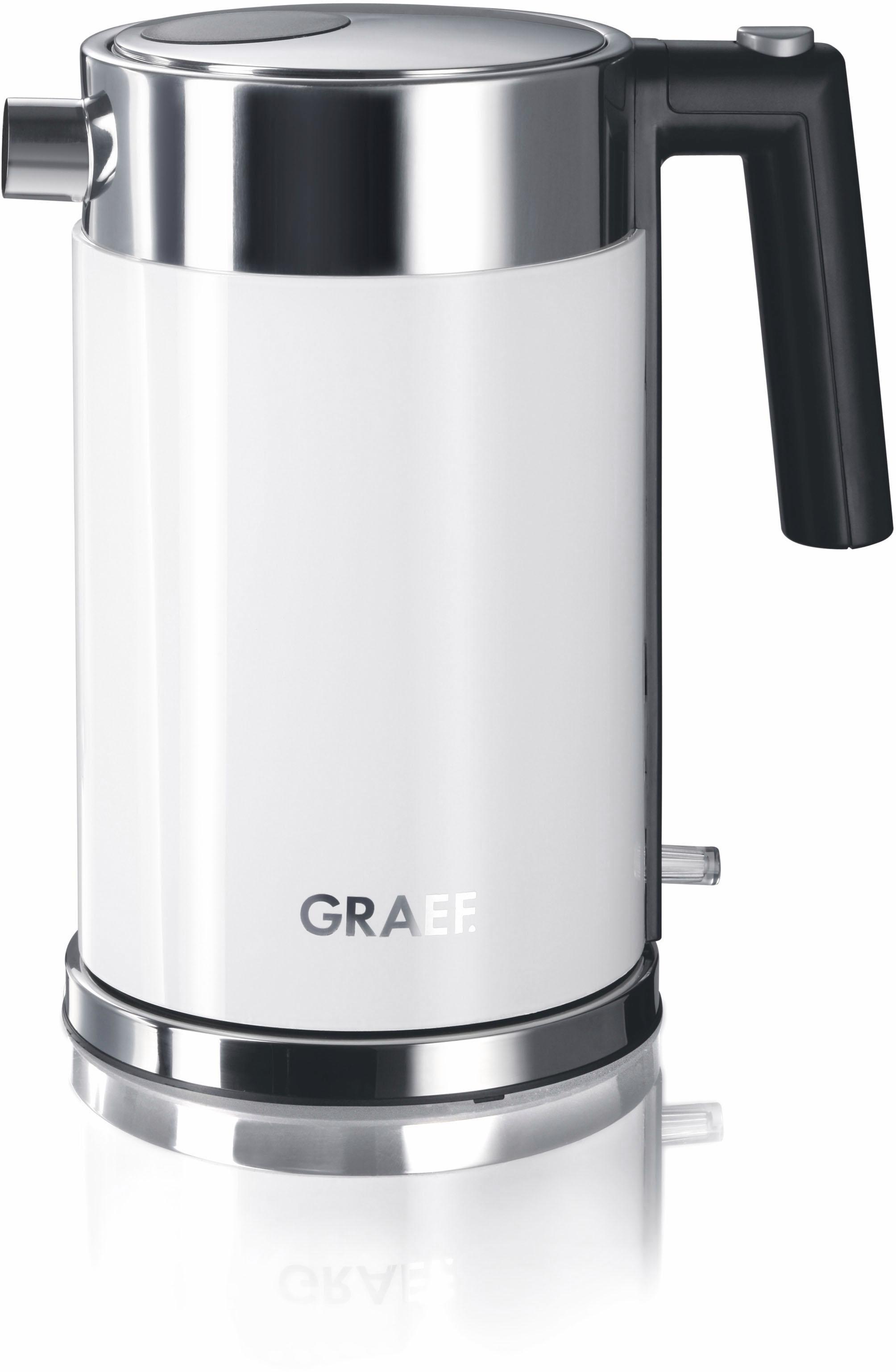Graef Wasserkocher, WK 61, 1,5 Liter, 2015 Watt, weiß