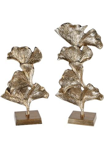 GILDE Dekoobjekt »Skulptur Ginkgo, groß, goldfarben«, Höhe 49 cm, aus Metall, Wohnzimmer kaufen