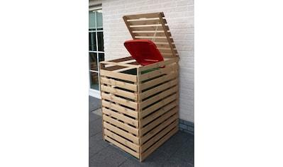 PROMADINO Mülltonnenbox »Vario V«, für 1 x 240 l, holzfarben kaufen