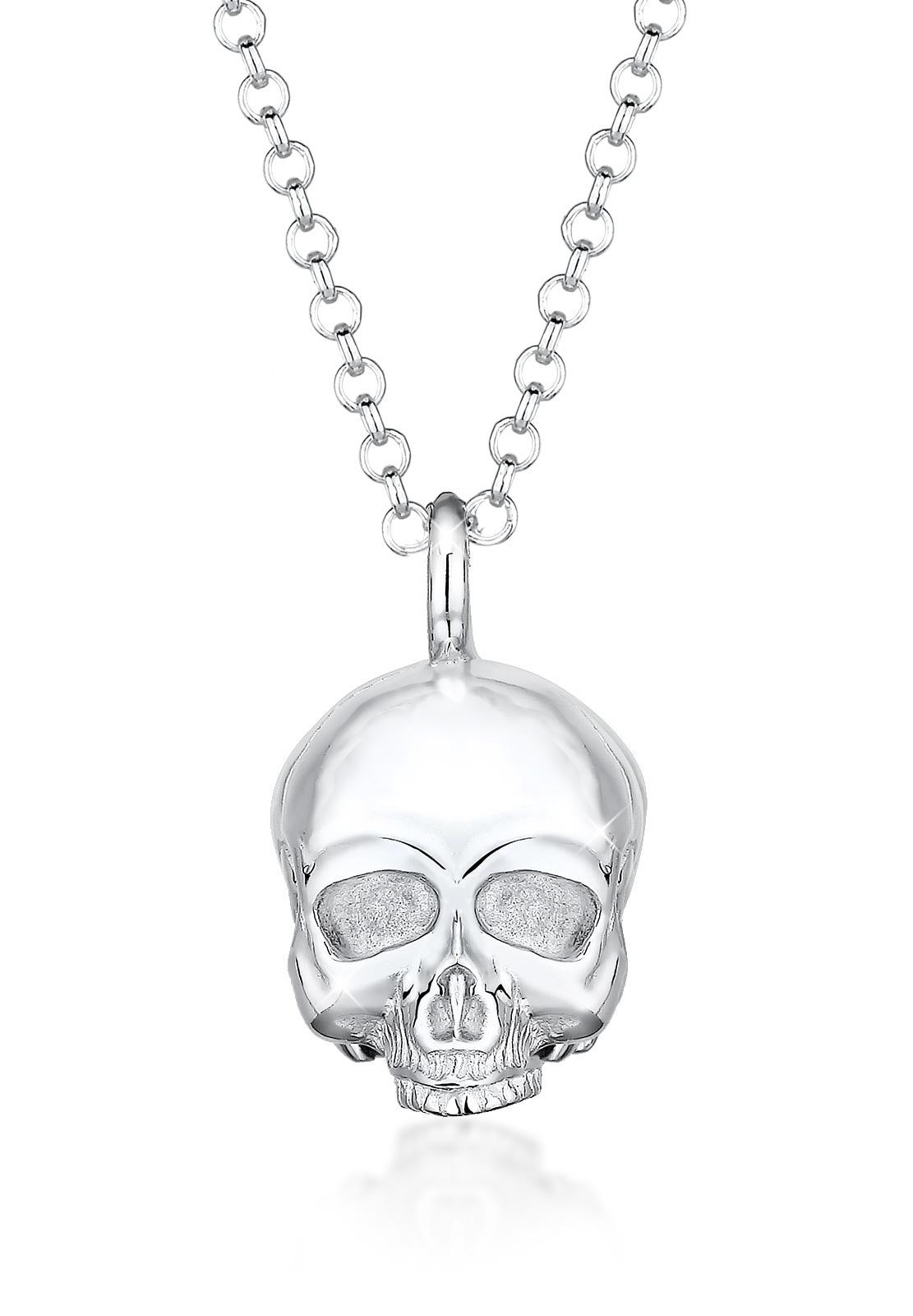 Kuzzoi Silberkette Totenkopf Schädel Gothic 925 Sterling Silber | Schmuck > Halsketten > Silberketten | Kuzzoi