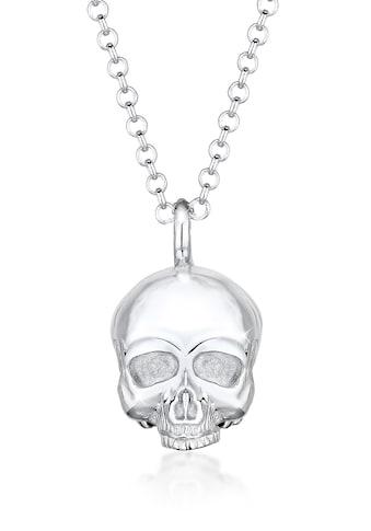 Kuzzoi Lange Kette »Totenkopf Schädel Gothic 925 Sterling Silber« kaufen