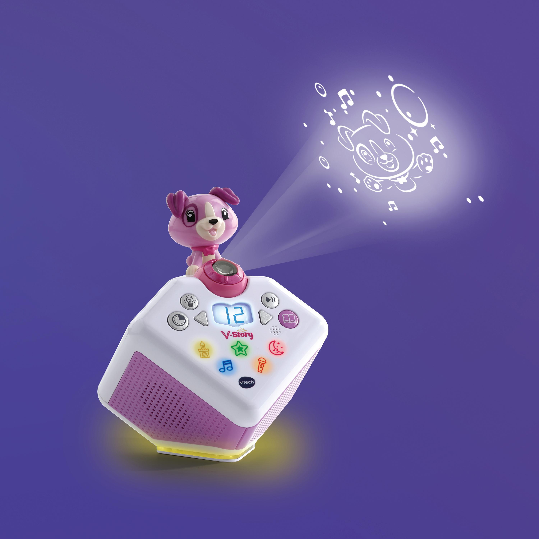 Vtech Lernspielzeug V-Story, die Hörspielbox blau, mit Lichtprojektion und Sound rosa Kinder Activity Center Trapeze Baby Kleinkind