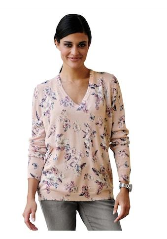 Alba Moda Pullover mit exklusivem floralen Duck allover kaufen