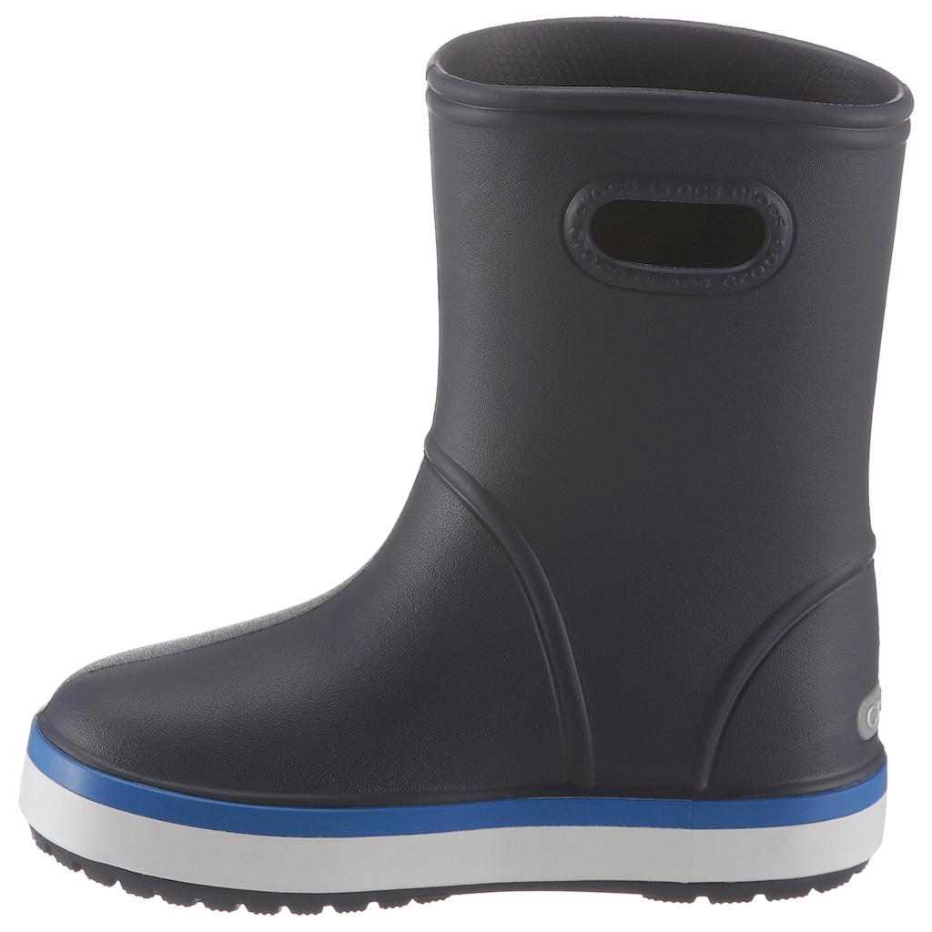 Crocs Gummistiefel »Crocband Rain Boot Kids«, mit reflektierendem Logo