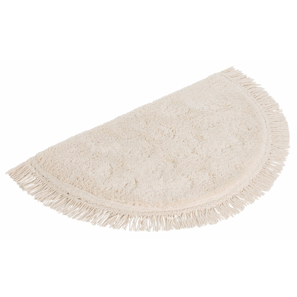 Home affaire Badematte »Finca«, Höhe 16 mm, rutschhemmend beschichtet, fußbodenheizungsgeeignet, Bio-BAumwolle