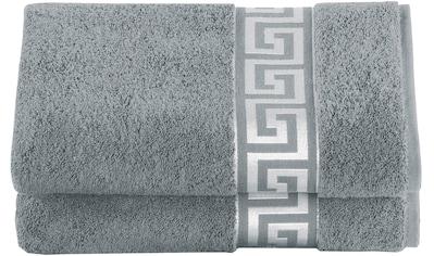 Delindo Lifestyle Handtuch »Rhodos«, (2 St.), mit auffälliger Bordüre kaufen
