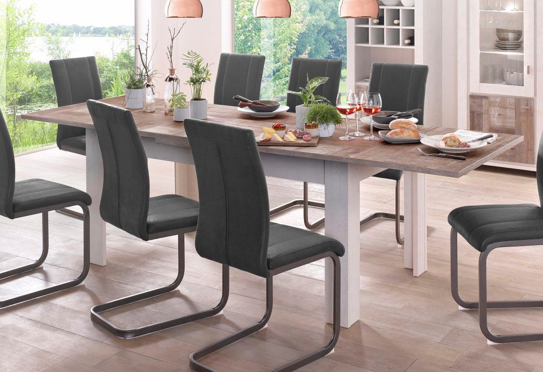 Esstisch, ausziehbar, Breite 160-260 cm beige Ausziehbare Esstische Tische Esstisch