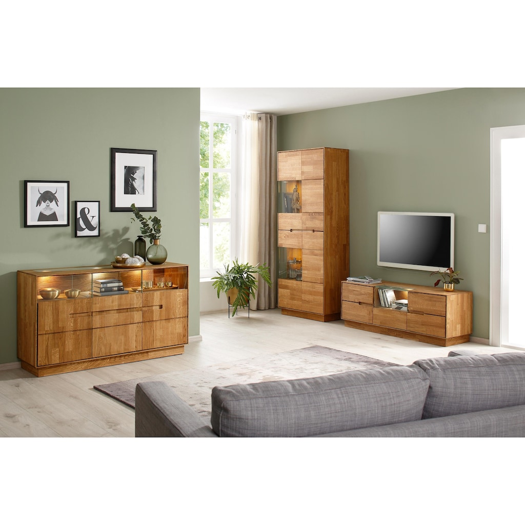 Premium collection by Home affaire TV-Board »Pavo«, 1-türig, inklusive LED Beleuchtung