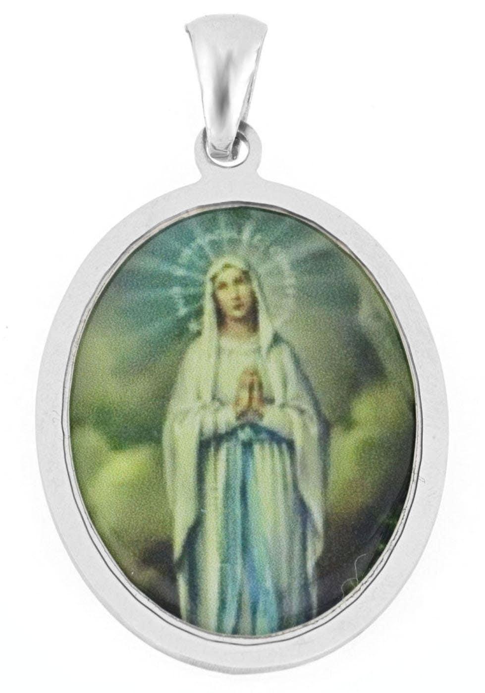 Firetti Kettenanhänger Heilige Maria glänzend rhodiniert ovale Form | Schmuck > Halsketten > Kettenanhänger | Firetti