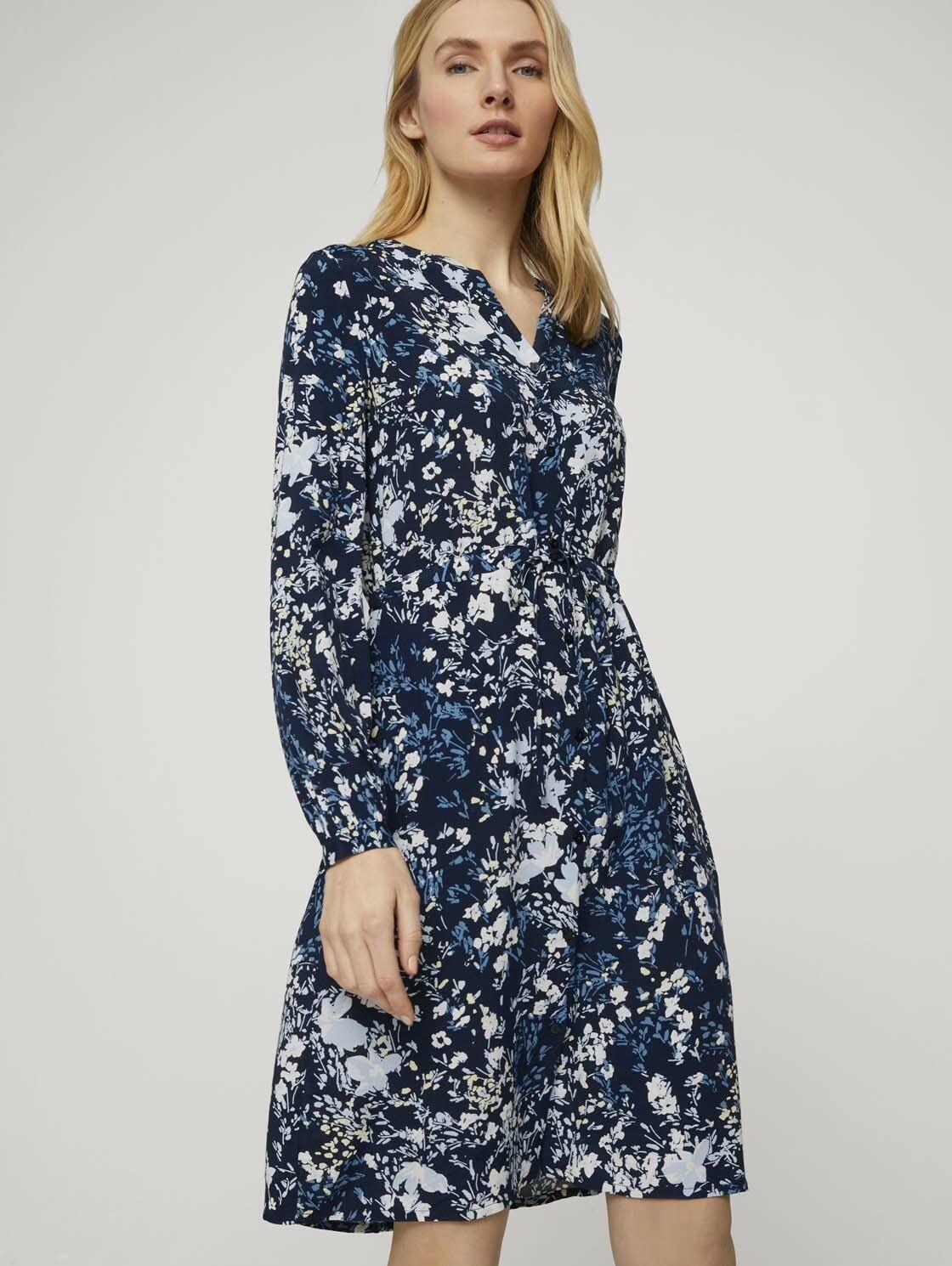 tom tailor -  Jeanskleid Gemustertes Blusenkleid