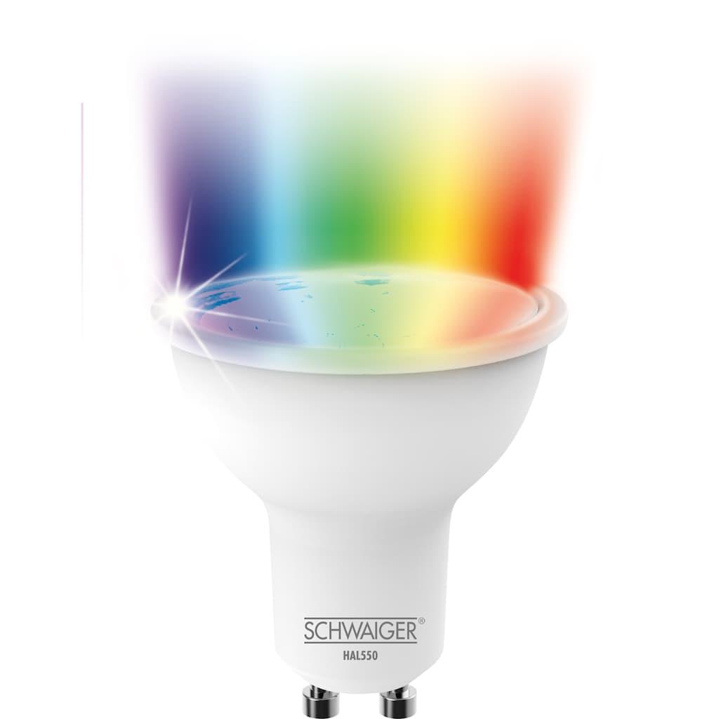 Schwaiger LED Lampe GU10 dimmbar -smarte LED- Glühbirne RGBW »Multicolor Lichtsystem«