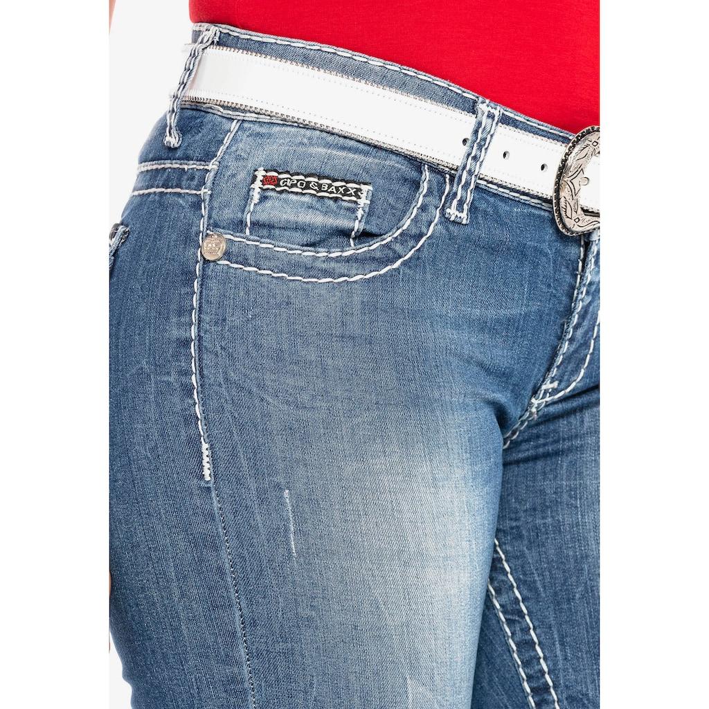 Cipo & Baxx Slim-fit-Jeans, mit körperbetontem Schnitt