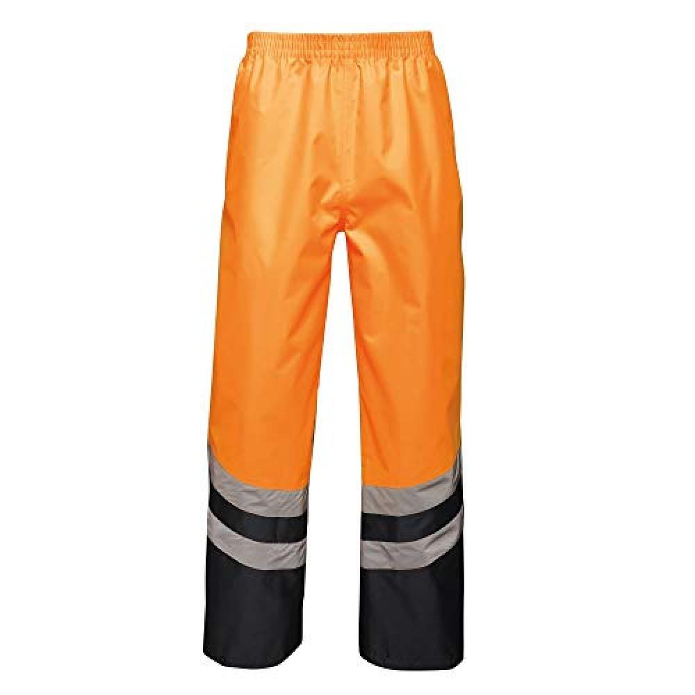 Regatta Regenhose Unisex Hi-Vis-Überhose / Arbeitshose Warnfarben reflektierend | Sportbekleidung > Sporthosen > Regenhosen | Orange | Regatta