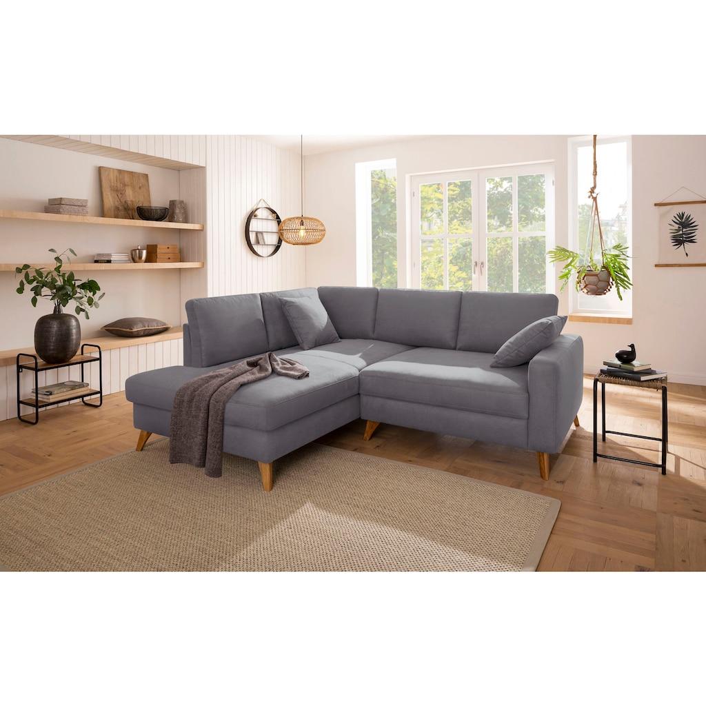 Home affaire Ecksofa »Stanza Luxus«, besonders hohe Belastbarkeit pro Sitzplatz: 140 kg; incl. 2 Zierkissen