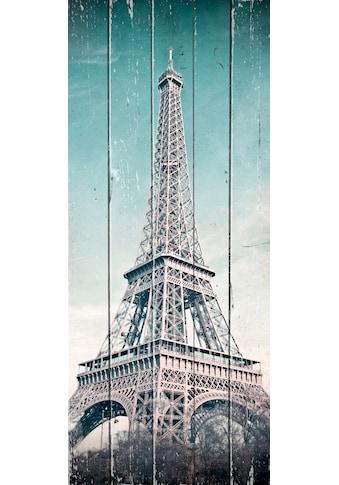 queence Holzbild »Vintage Eiffelturm« kaufen