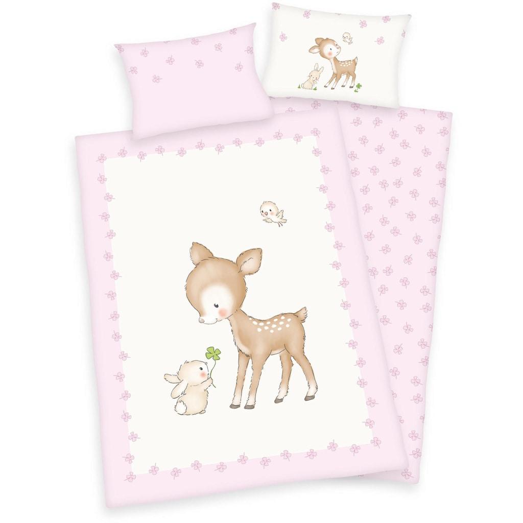 Herding Babybettwäsche »Jana Reh«, mit Motiv