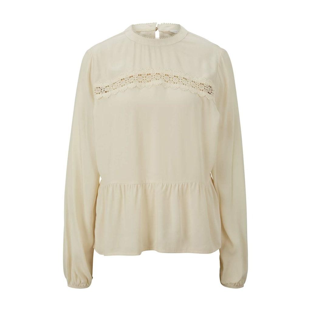 TOM TAILOR Denim Shirtbluse »Stehkragenbluse mit Schößchen«