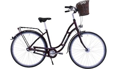 HAWK Bikes Cityrad »HAWK City Classic Joy Bordeaux«, 3 Gang, Shimano, Nexus Schaltwerk kaufen