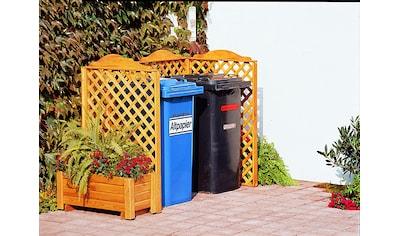 PROMADINO Mülltonnenabtrennung »Rex«, für 2 x 240 l, inkl. Pflanzkasten kaufen