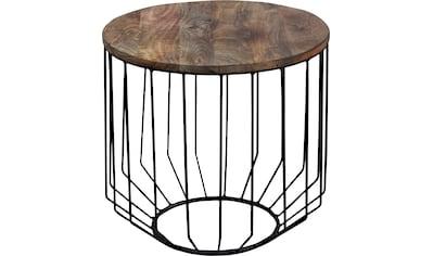 byLIVING Couchtisch »Tarek«, aus Massivholz, Durchmesser 50 cm kaufen