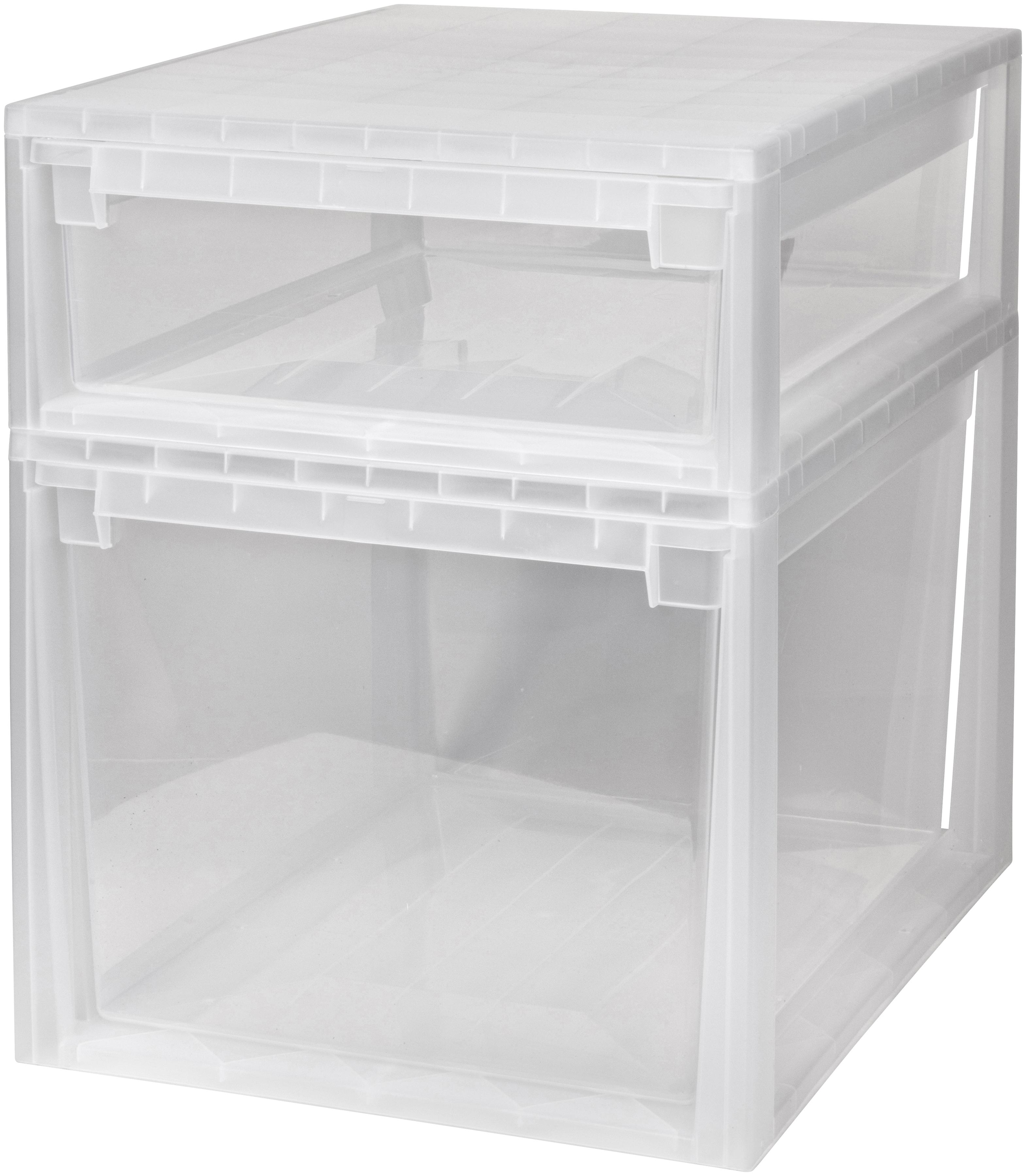 Kreher Aufbewahrungsbox, (Set, 2 St.) farblos Kleideraufbewahrung Aufbewahrung Ordnung Wohnaccessoires Aufbewahrungsbox
