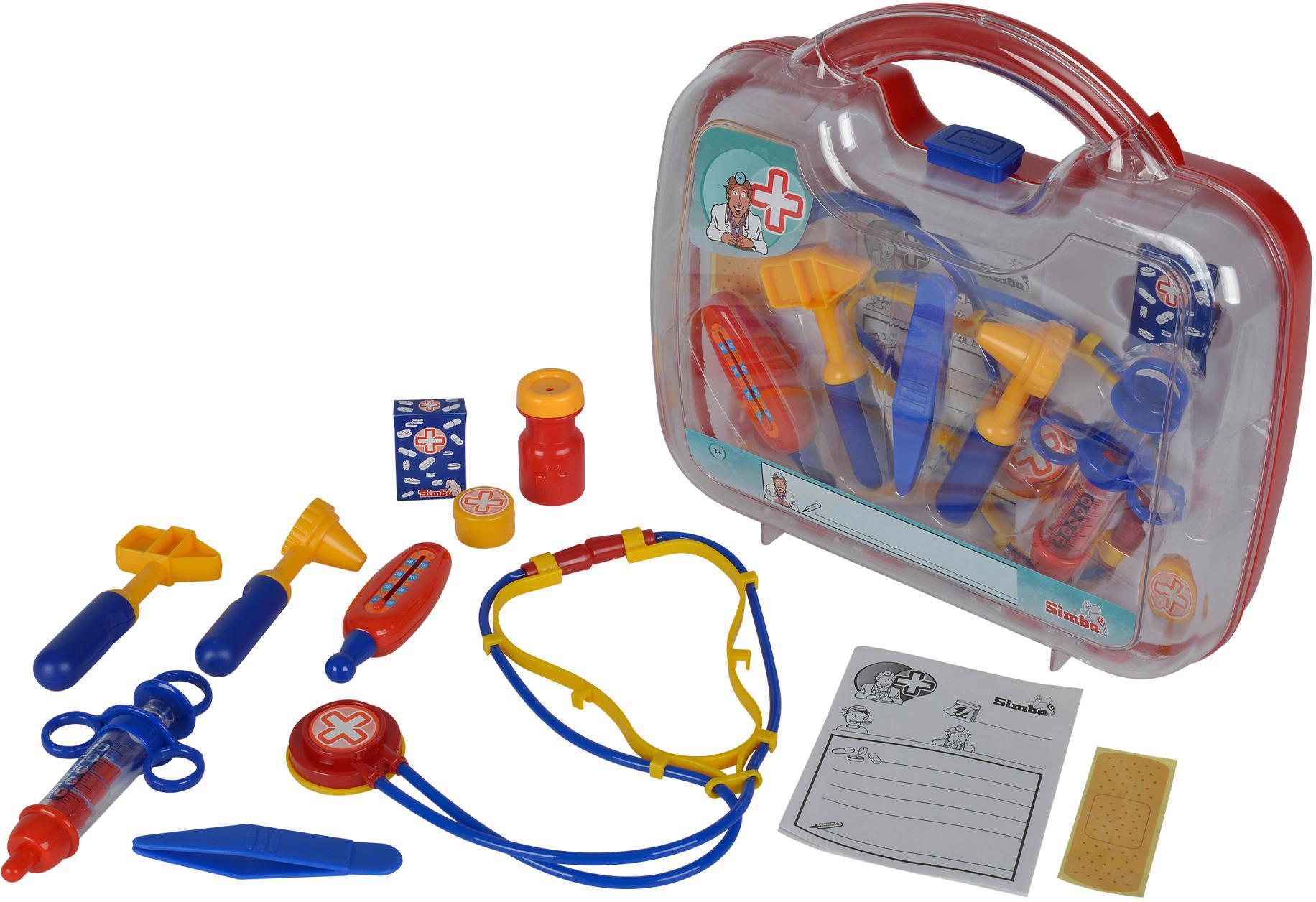 SIMBA Spielzeug-Arztkoffer Großer Doktorkoffer bunt Kinder Ab 3-5 Jahren Altersempfehlung Rollenspielzeug