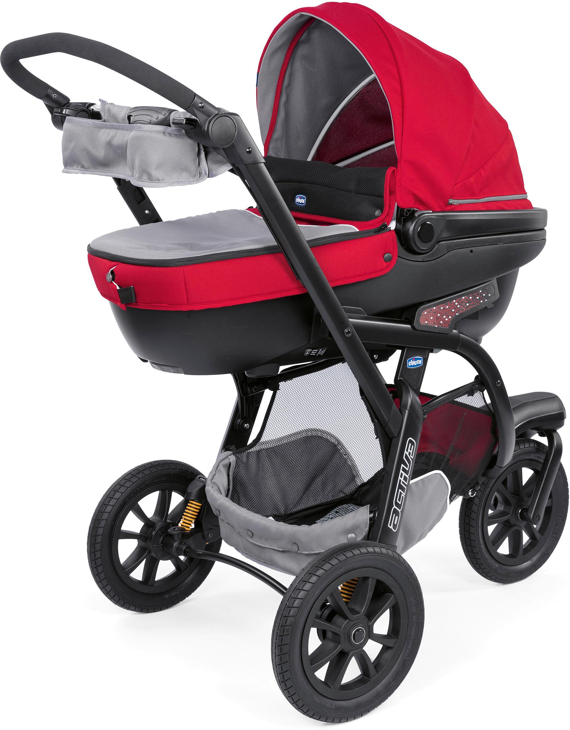 """Chicco Kombi-Kinderwagen """"Trio-System Activ3 Top mit Kit Car Red Berry"""" Kindermode/Ausstattung/Kinderwagen & Buggies/Kinderwagen/Kombikinderwagen"""