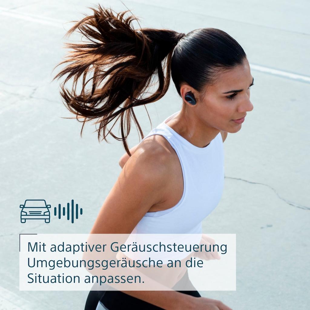 Sony wireless Kopfhörer »WF-SP800N True«, A2DP Bluetooth, Freisprechfunktion-Noise-Cancelling-Sprachsteuerung, wasserfest gemäß Schutzart IP55, 18H Akkulaufzeit, Noise Cancelling, ergonomisches Design, stabile Bluetooth-Verbindung, Freisprechfunktion