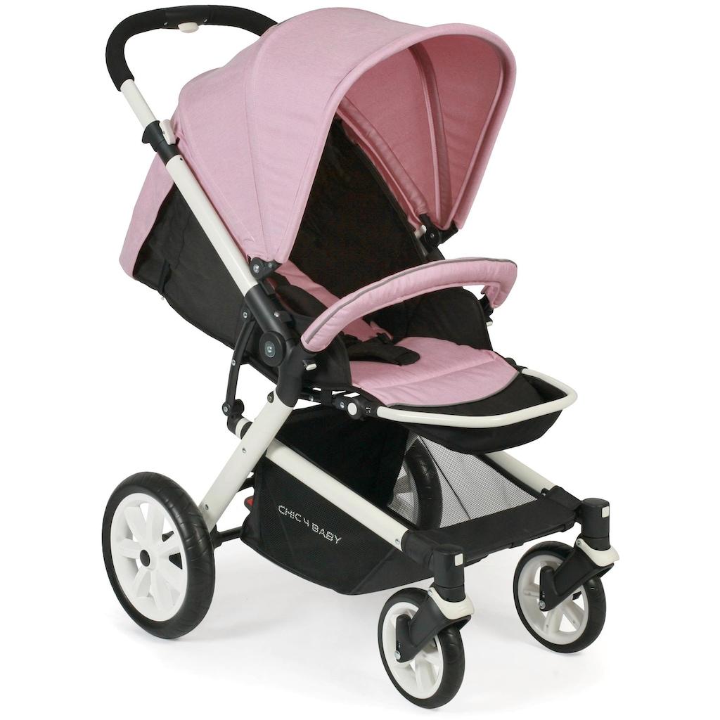 CHIC4BABY Sport-Kinderwagen »Boomer, rosa«, mit schwenk- und feststellbaren Vorderrädern; Kinderwagen, Buggy, Sportwagen, Kinder-Buggy, Kinderbuggy