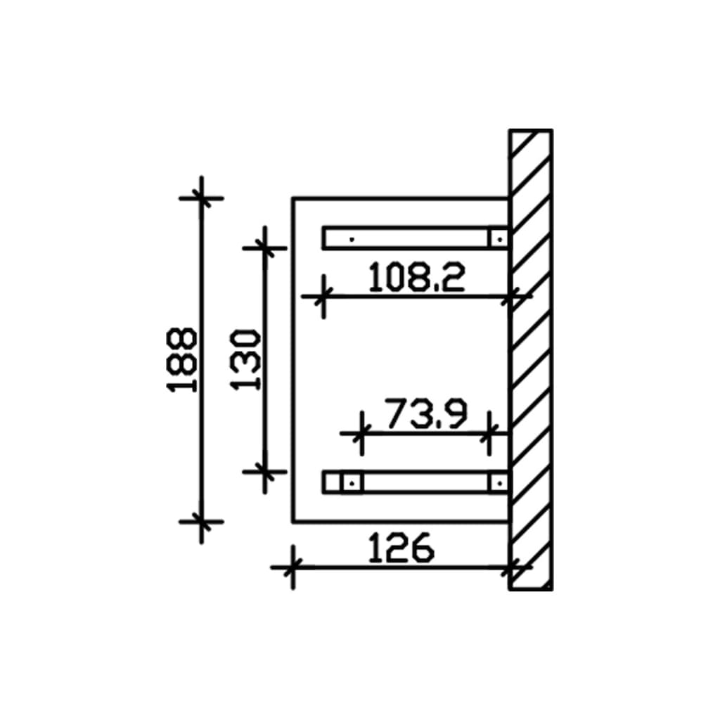Skanholz Vordach »Wesel 3«, BxTxH: 188x126x264 cm