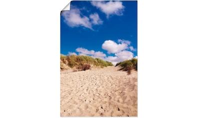 Artland Wandbild »Dünenweg - Insel Amrum«, Küste, (1 St.), in vielen Größen &... kaufen