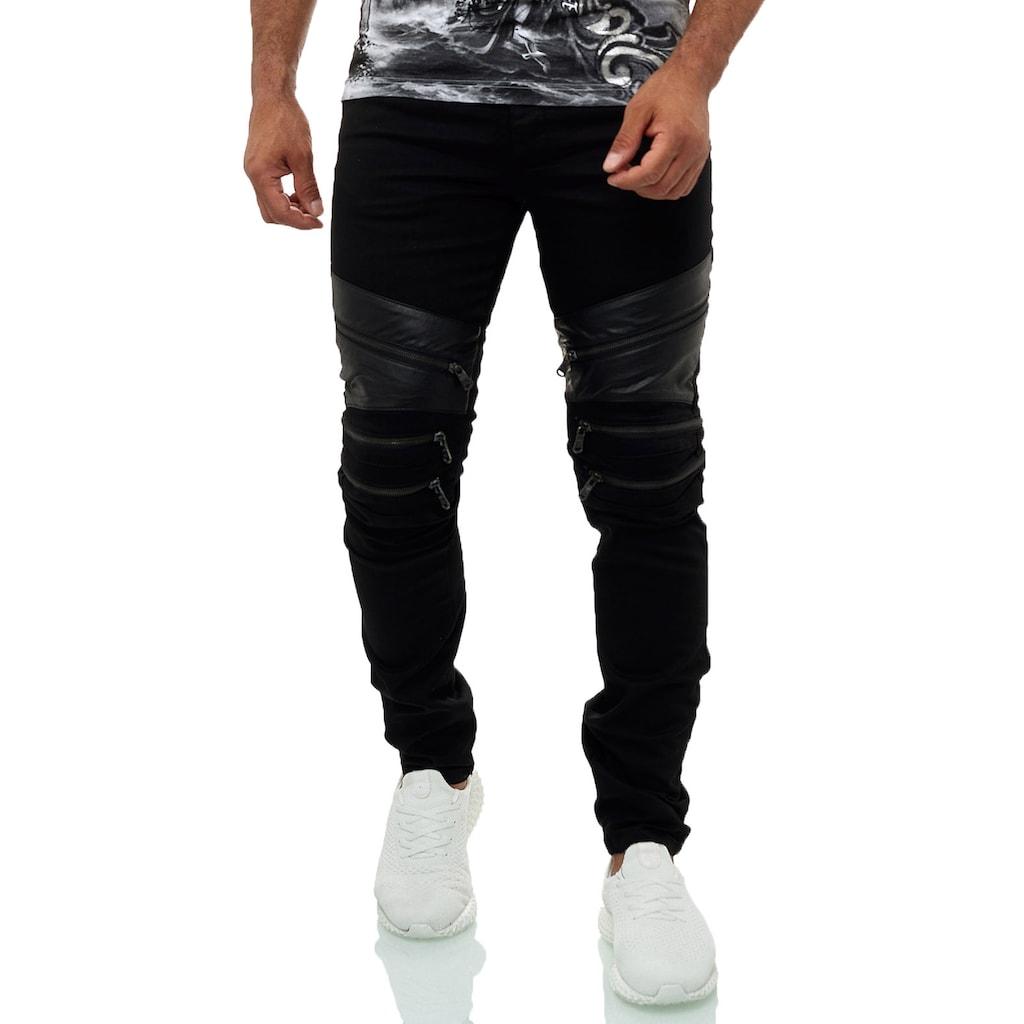 KINGZ Slim-fit-Jeans, im lässigem Streetstyle-Look