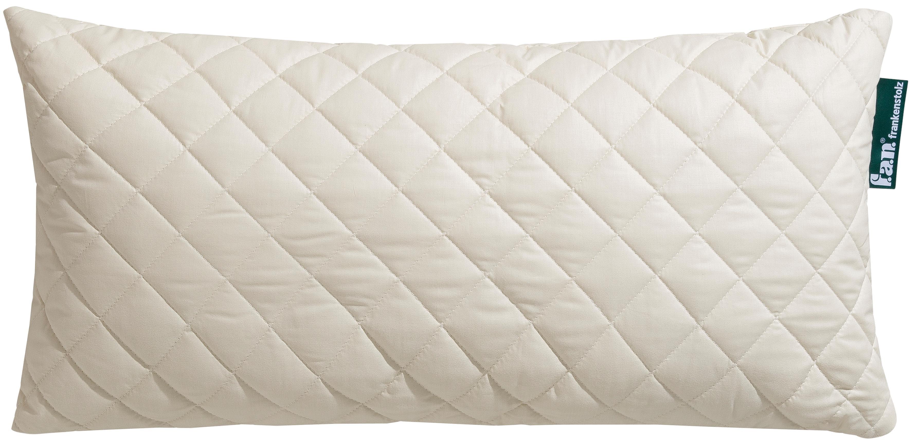 Naturfaserkissen Wolle Anti Milbe fan Frankenstolz Füllung: 97% Wolle 3% sonstige Fasern Bezug: 100% Baumwolle