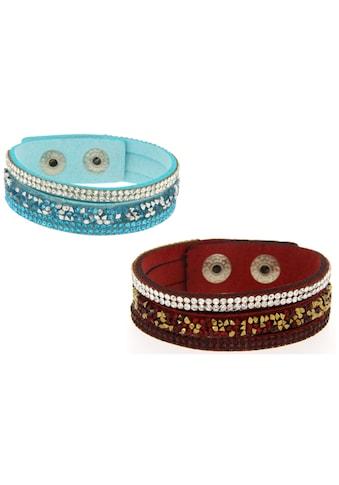 La Piora Armband »Armband Set«, dunkelrot & hellblau kaufen