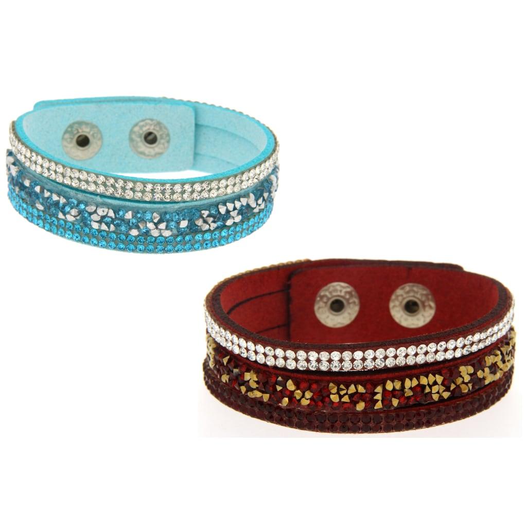 La Piora Armband »Armband Set«, dunkelrot & hellblau