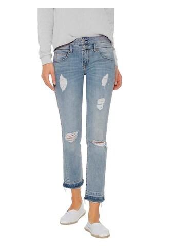 Herrlicher Jeans mit Raw-Cut-Edges kaufen
