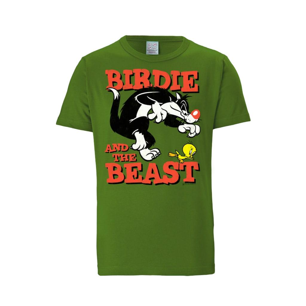 LOGOSHIRT T-Shirt »Sylvester & Tweety«, mit lizenziertem Originaldesign