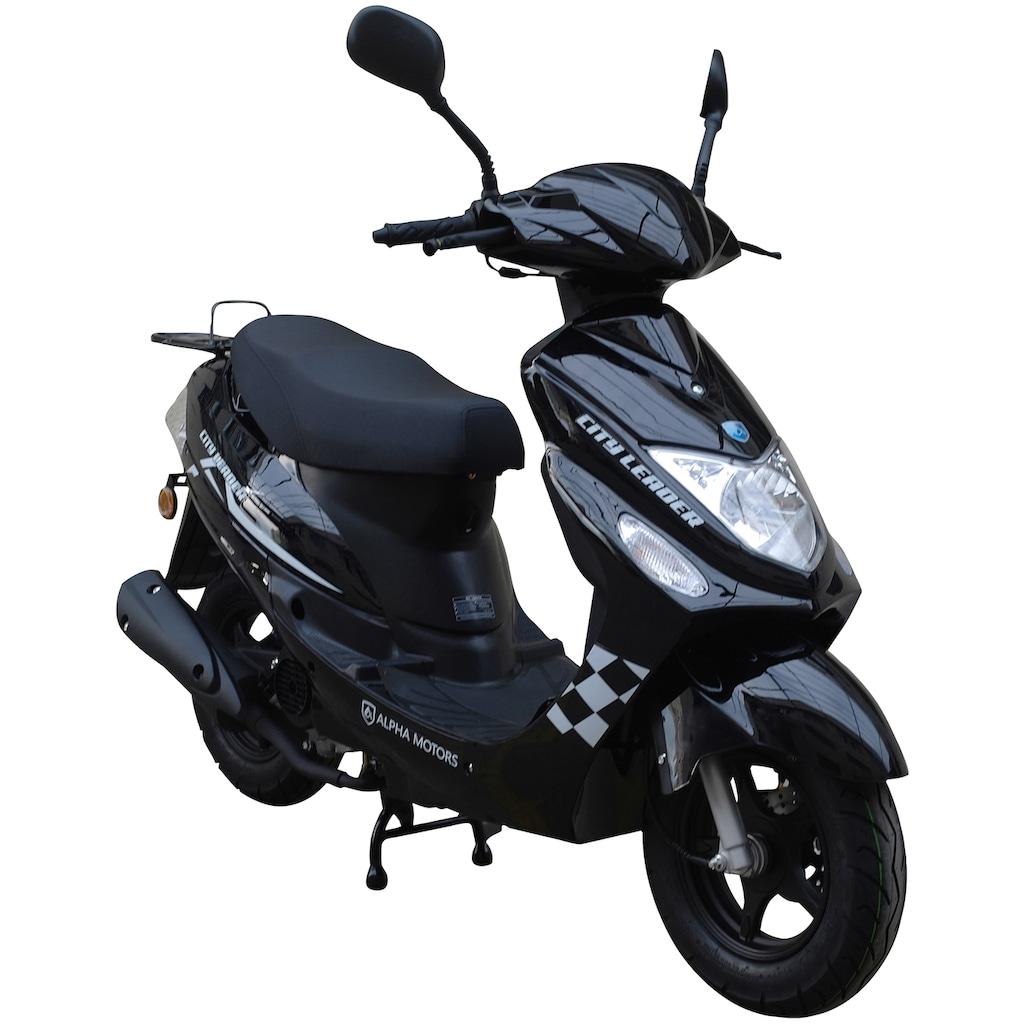 Alpha Motors Motorroller »Cityleader«, 2,5 PS, 50 ccm, 45 km/h, schwarz inkl. Topcase