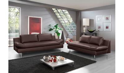 PLACES OF STYLE 2-Sitzer »Redding«, In Naturleder kaufen